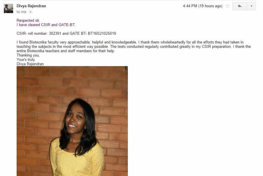 divya rajendran testimonial