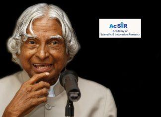 AcSIR – Dr. APJ Abdul Kalam Summer Training Program 2018