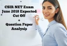 CSIR NET Exam June 2018 Expected Cut Off, Question Paper Analysis