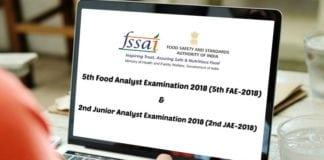 FSSAI Food Analyst Examination 2018