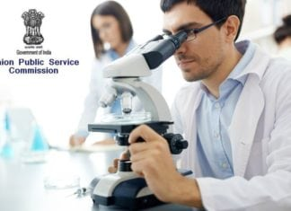 Govt UPSC Junior Scientific Officer (Biology) Recruitment 2018