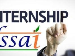 FSSAI November Internship Scheme 2018-19