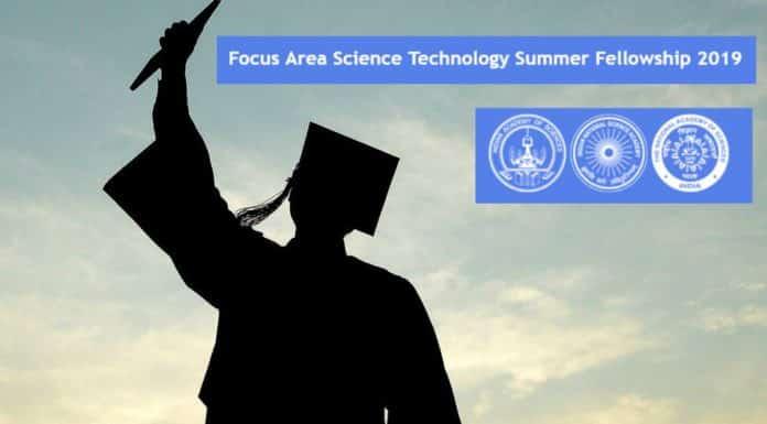 Focus Area Science Technology Summer Fellowship [FAST-SF] – 2019