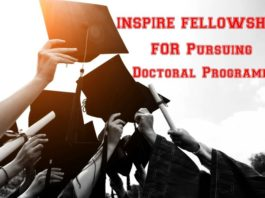 INSPIRE FELLOWSHIP 2018 for Pursuing Doctoral Programme