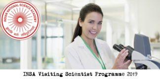INSA Visiting Scientist Programme 2019