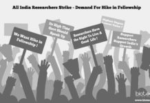 Nationwide Protests For Hike in Fellowship By Research Scholars