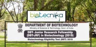 DBT-BET 2019 / DBT JRF 2019 Exam Date, Application, Eligibility