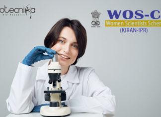 DST - Women Scientists Scheme-C (WOS-C) 2019
