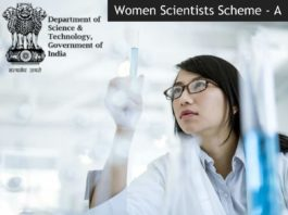 DST Women Scientists Scheme - A