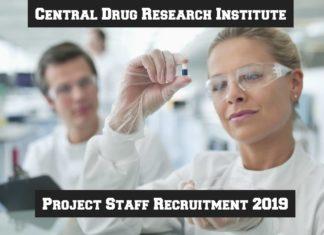 Govt CDRI Recruitment 2019