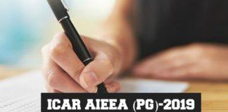 ICAR AIEEA (PG)-2019