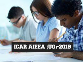 ICAR AIEEA (UG)-2019