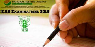 ICAR Examinations 2019