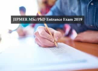 JIPMER Admissions 2019