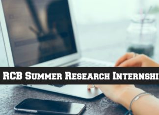 RCB Summer Research Internship