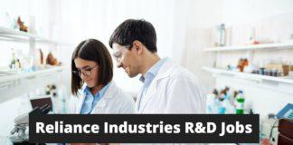 Reliance Industries R&D Jobs