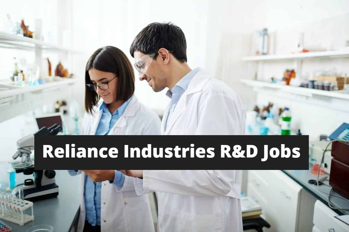Reliance Industries R&D Jobs - Biology Research Scientist Post