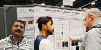 Pandorum Technologies Dr. Singh and Dr. Bhowmick presenting at the ARVO-2019 Annual Meeting