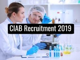 Govt CIAB Fellowships 2019