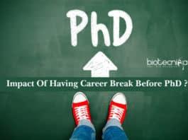 Impact Of Having Career Break Before Pursuing PhD