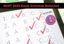 DUET 2020 Exam Schedule Released