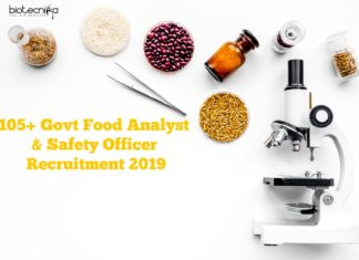 105+ Govt Food Analyst