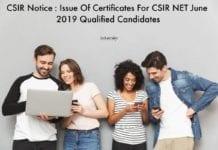 CSIR Notice