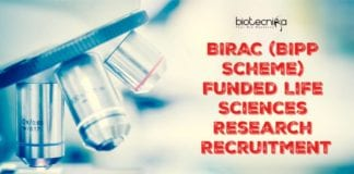 BIRAC (BIPP Scheme) Funded