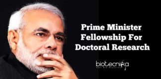 Prime Minister PhD Fellowship