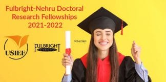 Fulbright-Nehru Doctoral Research Fellowships