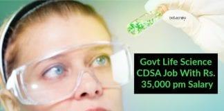 Govt Jobs CDSA