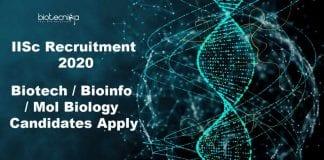 IISc Biotech Jobs