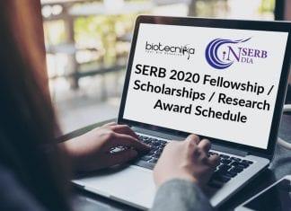SERB 2020 Fellowships List
