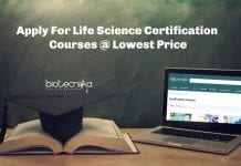 Life Science Certification Courses