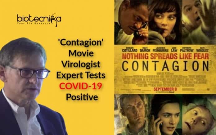 Dr. Lipkin behind contagion turns positive for Covid-19