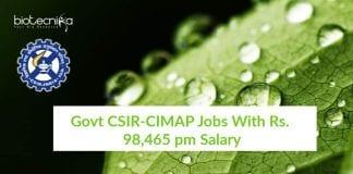 CIMAP Jobs