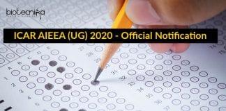 ICAR AIEEA (UG) 2020