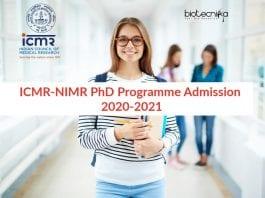 ICMR-NIMR PhD Programme Admission