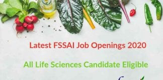Latest FSSAI Job Openings