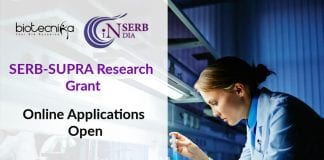 SERB-SUPRA Research Grant