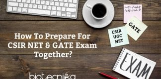 How To Prepare For CSIR NET & GATE Exam Together