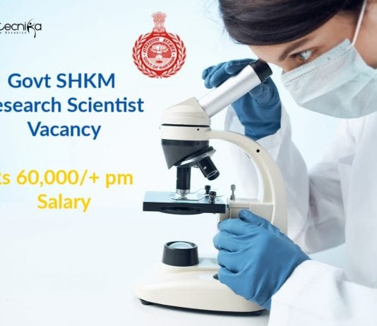 Govt SHKM Research Scientist