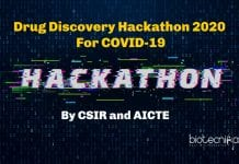 Drug Discovery Hackathon 2020 by CSIR and AICTE