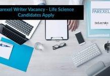 Parexel Writer Vacancy