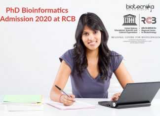 PhD Bioinformatics Admission 2020