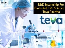 Teva Pharma R&D Internship