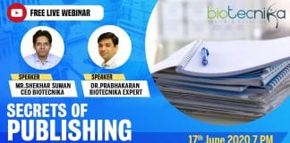 Webinar on publishing your research