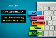 GAT - Biotechnology Entrance Exam