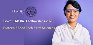 Govt CIAB R&D Fellowships