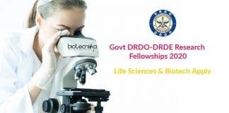 Govt DRDO-DRDE Research Fellowships